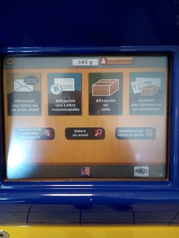 La posteでフランスから日本へ送る方法。 販売機の使い方を教えます。
